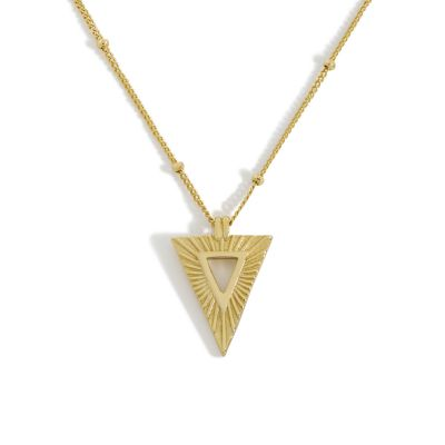 Holiday Geometry Triangle 925 Sterling Silver Necklace