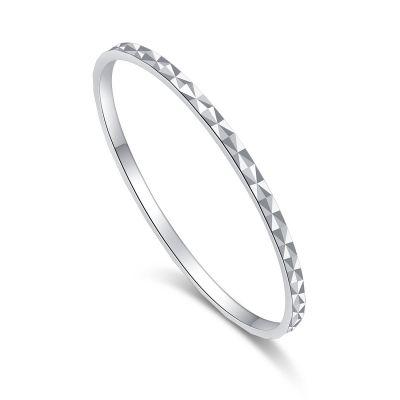 Fashion Rhombus Facet Pattern 925 Sterling Silver Ring