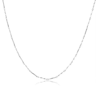 Twisted Link Bar 925 Sterling Silver 20