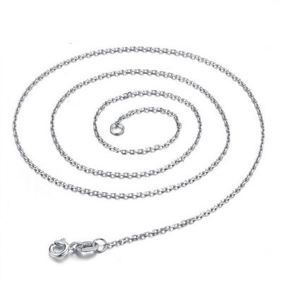 Flat Link Cable Sterling Silver Chain 925 Sterling Silver 16
