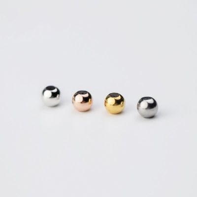 Round 3-6mm Silica Gel 925 Sterling Silver DIY Beads