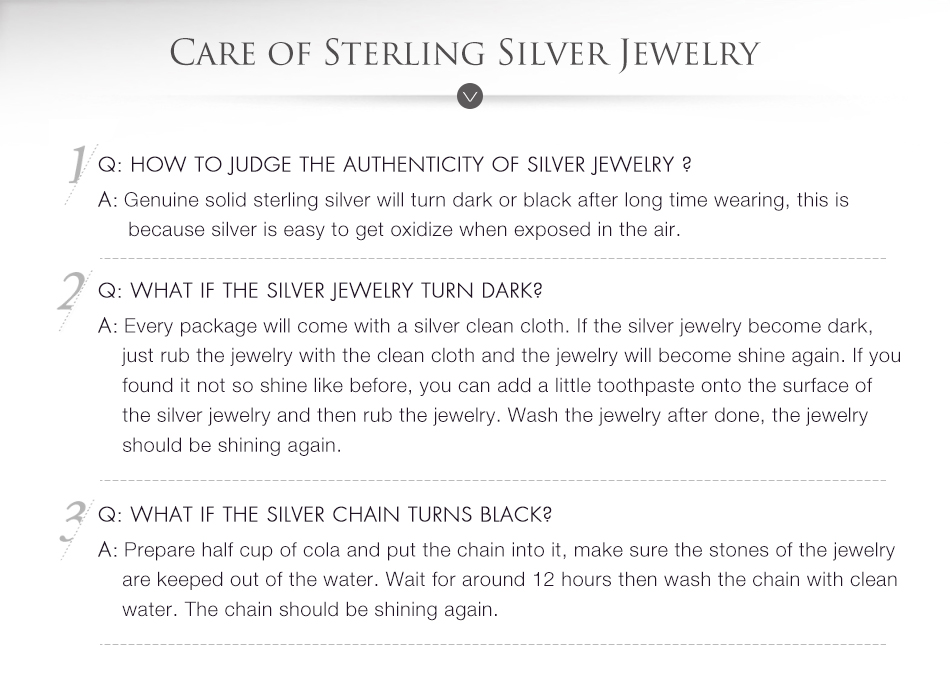 silver bene care of silver jewelry