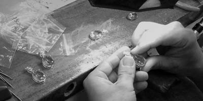 silver pendant setting